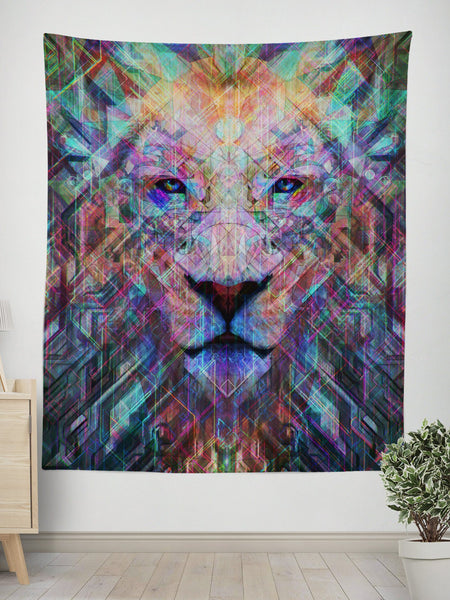 Crystal Lion Tapestry Tapestry Electro Threads