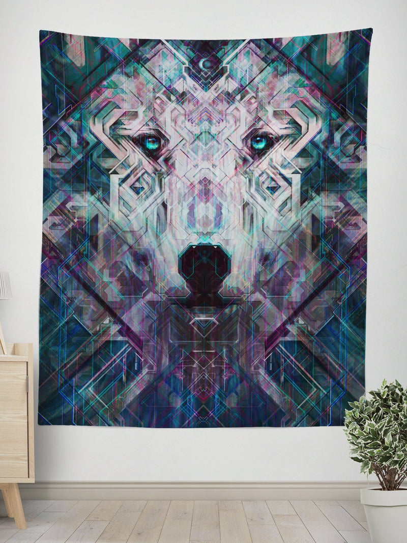 Crystal Wolf Tapestry Tapestry Electro Threads