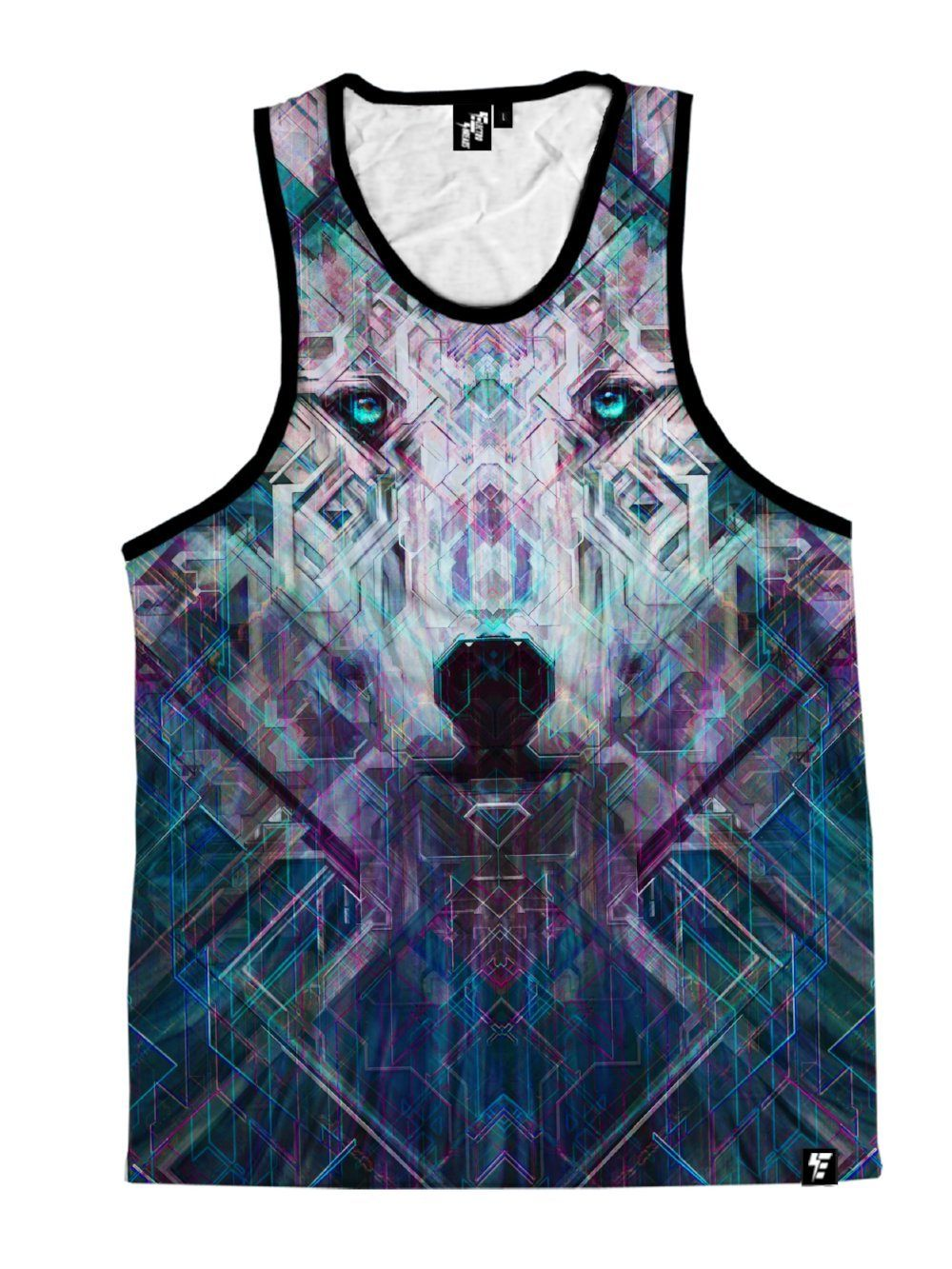 Crystal Wolf Unisex Tank Top Tank Tops T6