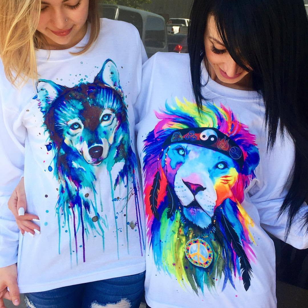 Dark Wolf + Hippie Lion Long Sleeve Bundle Bundle Electro Threads