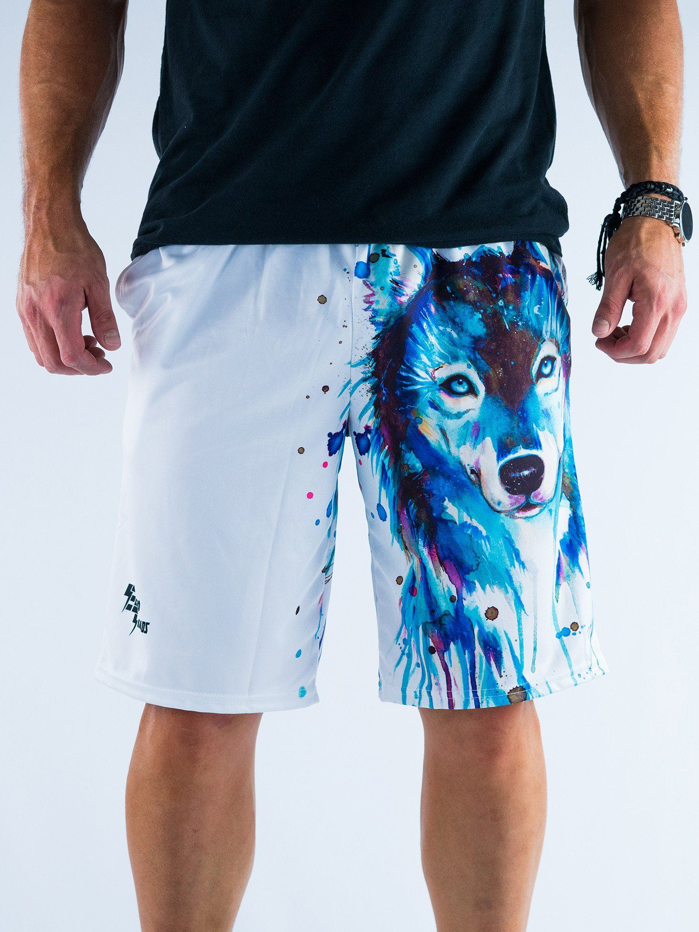 Dark Wolf Shorts Mens Shorts T6 28 - XS White