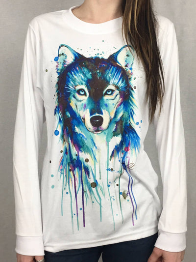 Dark Wolf Unisex Long Sleeve Shirt Long Sleeve Electro Threads