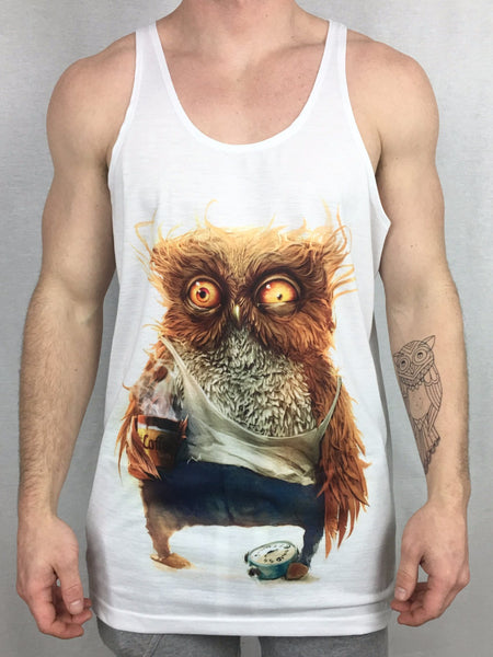Day 3 Owl Unisex Tank Top Tank Tops Electro Threads