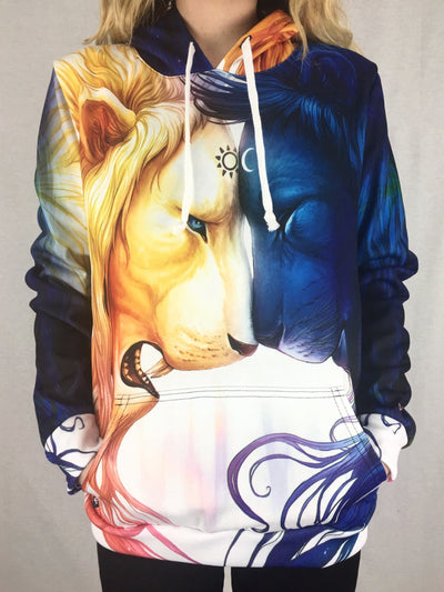 Day and Night Unisex Hoodie Pullover Hoodies T6