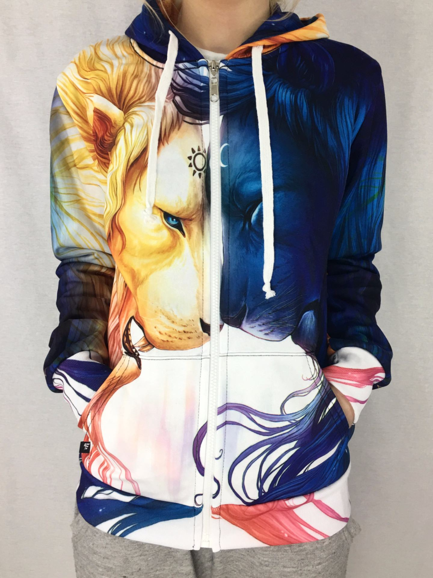 Day and Night Unisex Zip Hoodie Pullover Hoodies T6