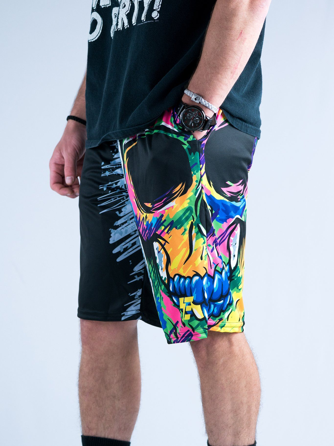 Death Scribble Shorts Mens Shorts T6