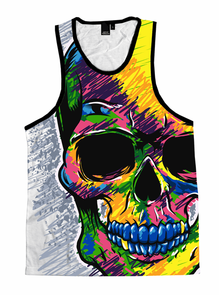 Death Scribble Unisex Tank Top Tank Tops T6 X-Small Yellow