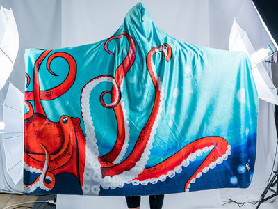 Deep Sea Hooded Blanket Hooded Blanket Electro Threads