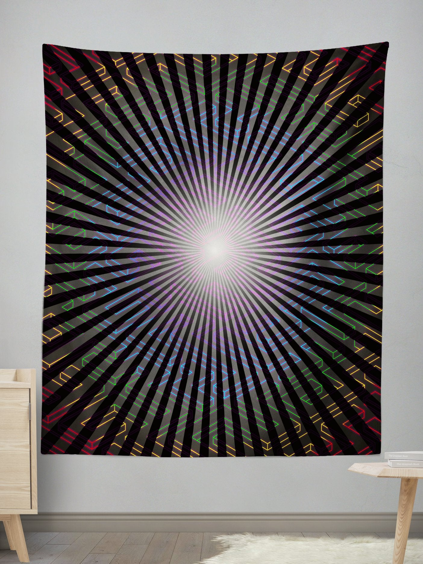 Diffuse Wall Tapestry Tapestry Electro Threads