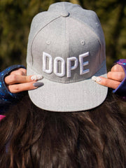 Dope Gray Snapback (RTS) Hat Electro Threads