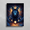 Dream Catcher Wolf HD Metal Panel Print Ready to Hang HD Metal Print Electro Threads