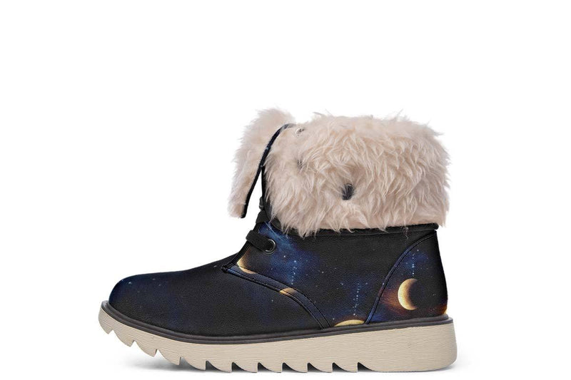 Dream Catcher Wolf Moon Boots YWF Women's Moon Boots Cream White Sole US 4.5 / EU35