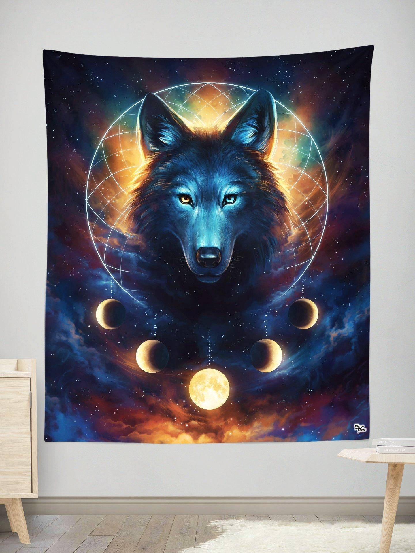Dream Catcher Wolf Wall Tapestry Tapestry Electro Threads