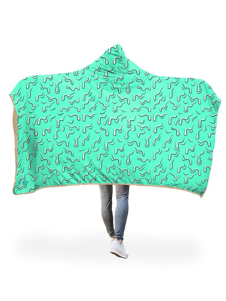 Drippy (Teal) Hooded Blanket Hooded Blanket Electro Threads