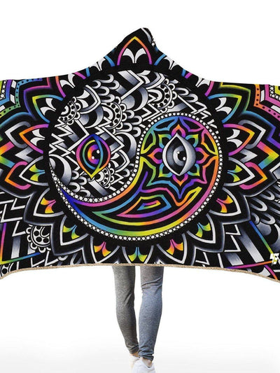 Duality Hooded Blanket Hooded Blanket Electro Threads