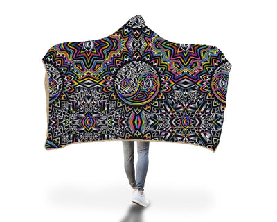 Duality Pattern Hooded Blanket Hooded Blanket Electro Threads