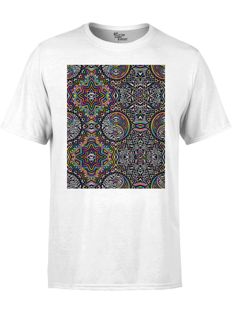 Duality Pattern Unisex Crew T-Shirts Electro Threads