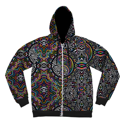 Duality Pattern Unisex Hoodie Pullover Hoodies Electro Threads