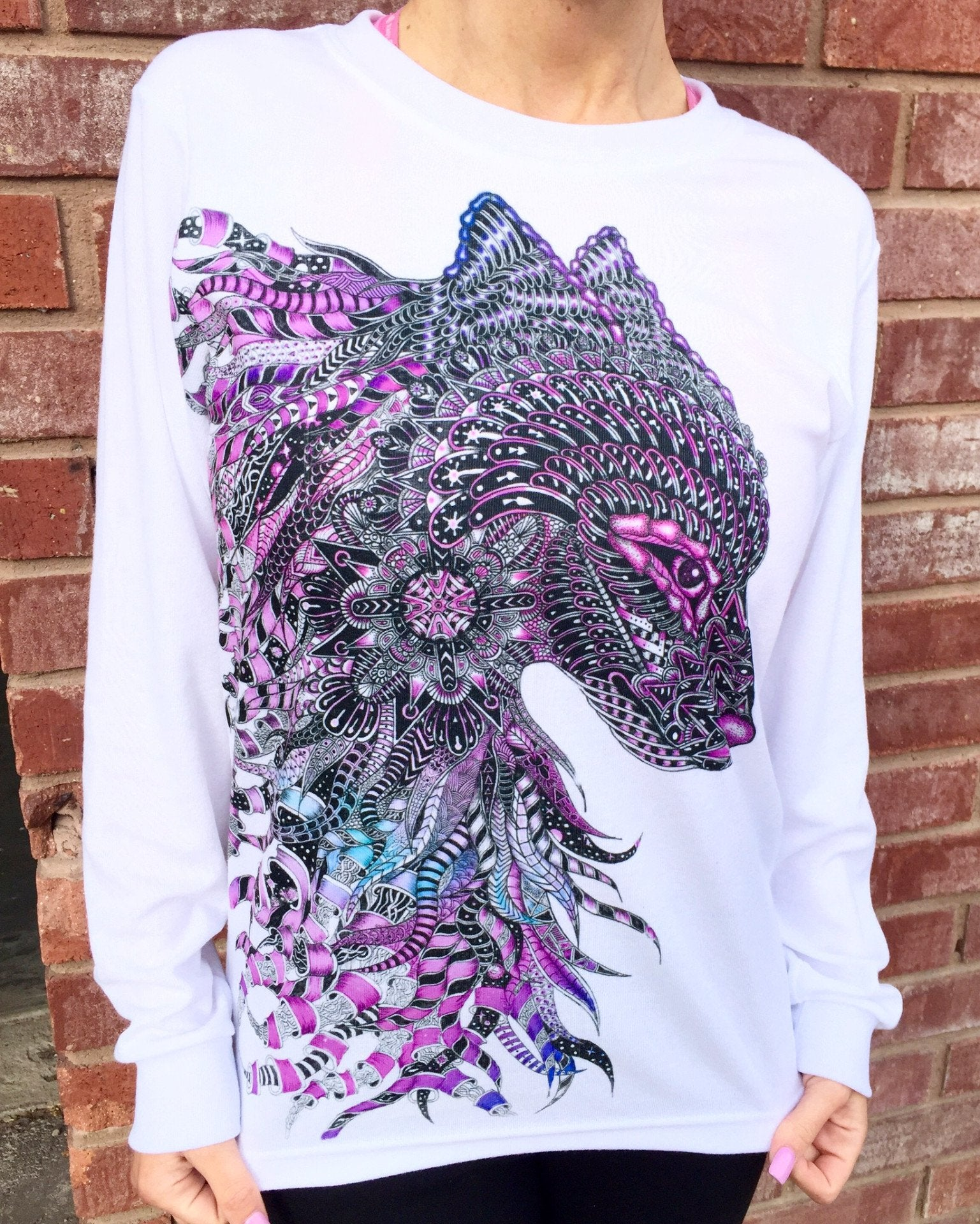 Wolf Unisex Long Sleeve Shirt Long Sleeve Electro Threads X-Small