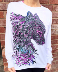 Wolf Unisex Long Sleeve Shirt - Electro Threads™