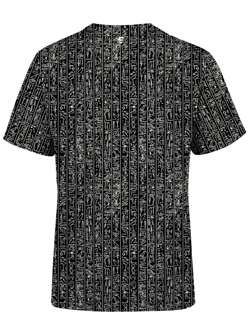 Egyptian Glyphs (Black) Unisex Crew T-Shirts Electro Threads
