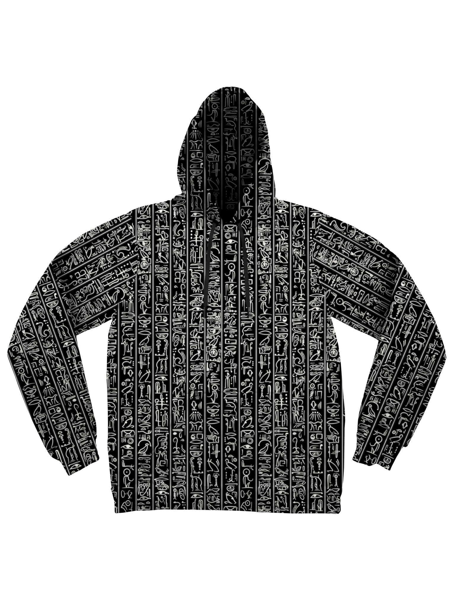 Egyptian Glyphs (Black) Unisex Hoodie Pullover Hoodies Electro Threads