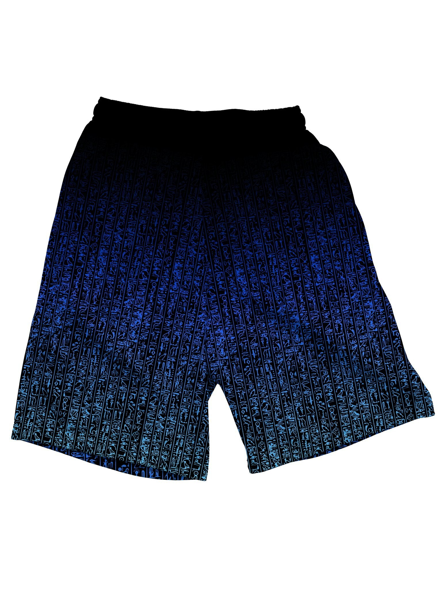 Egyptian Glyphs (Blue) Shorts Mens Shorts Electro Threads