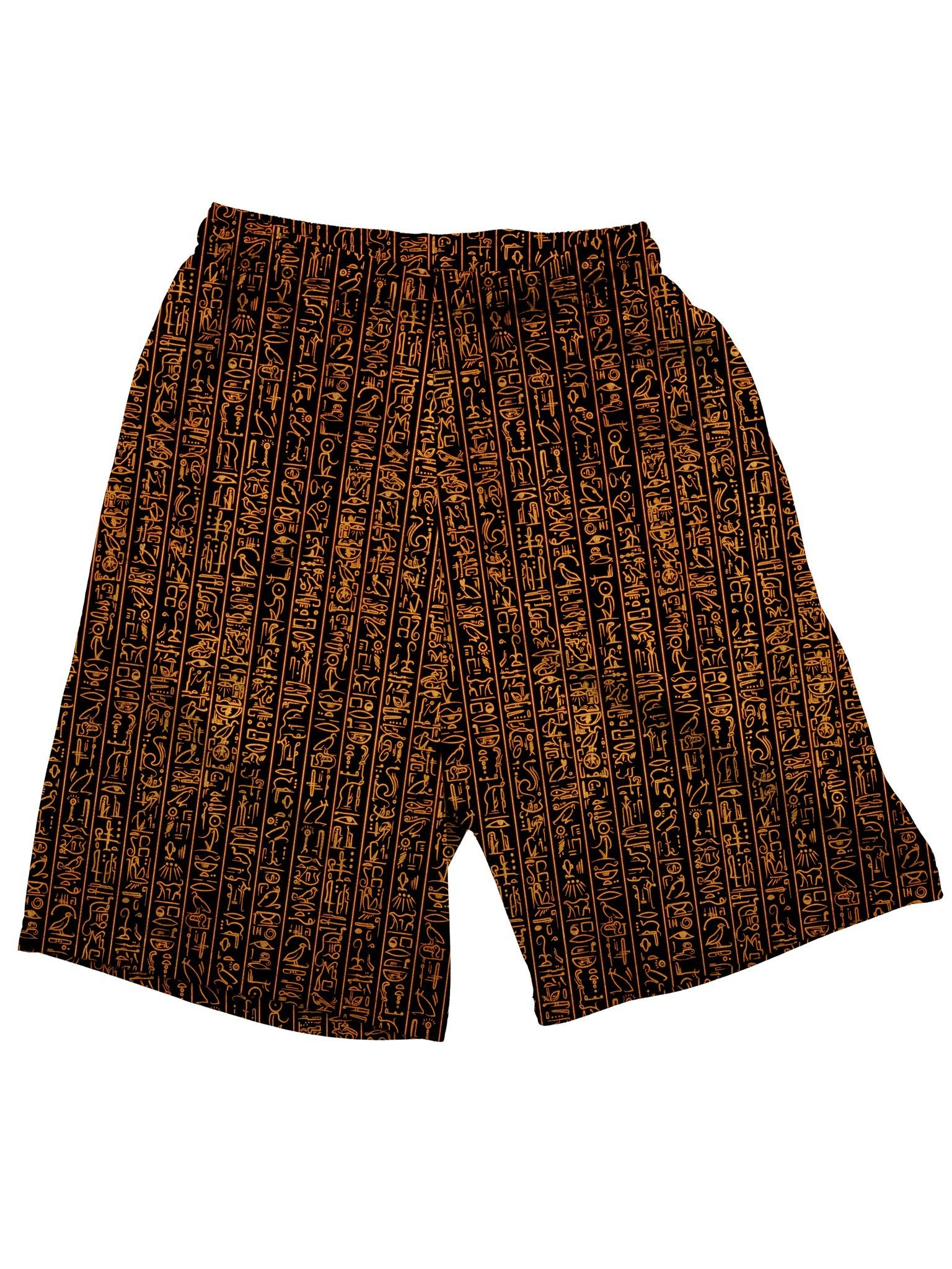 Egyptian Glyphs (Golden) Shorts Mens Shorts Electro Threads