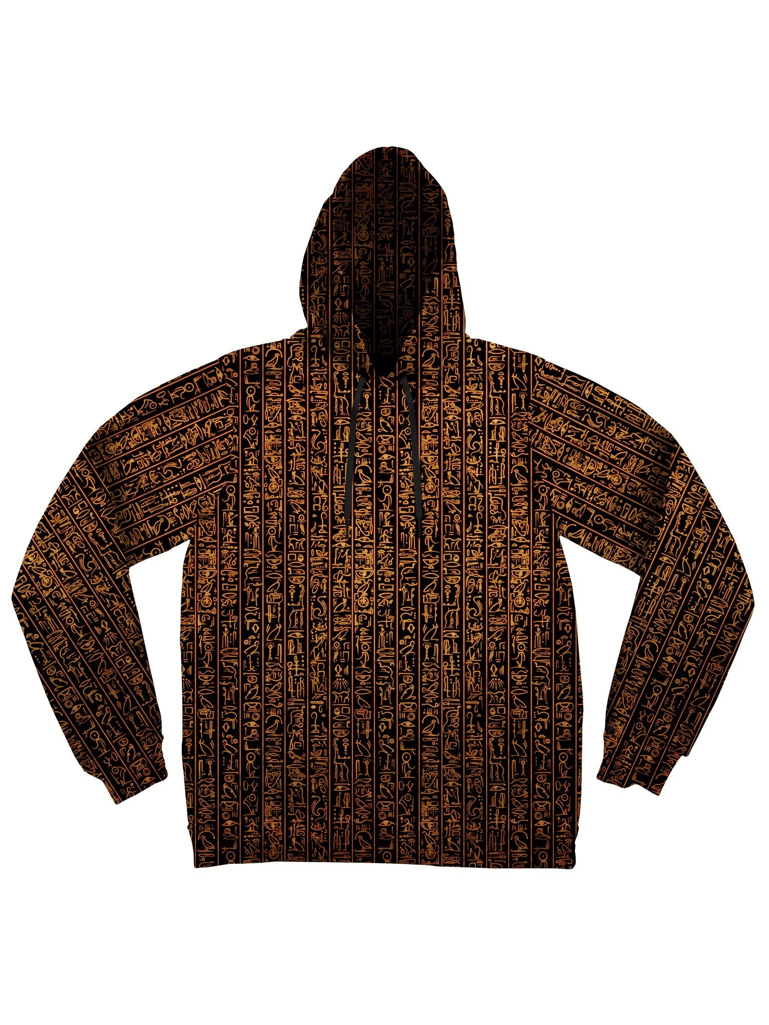 Egyptian Glyphs (Golden) Unisex Hoodie Electro Threads