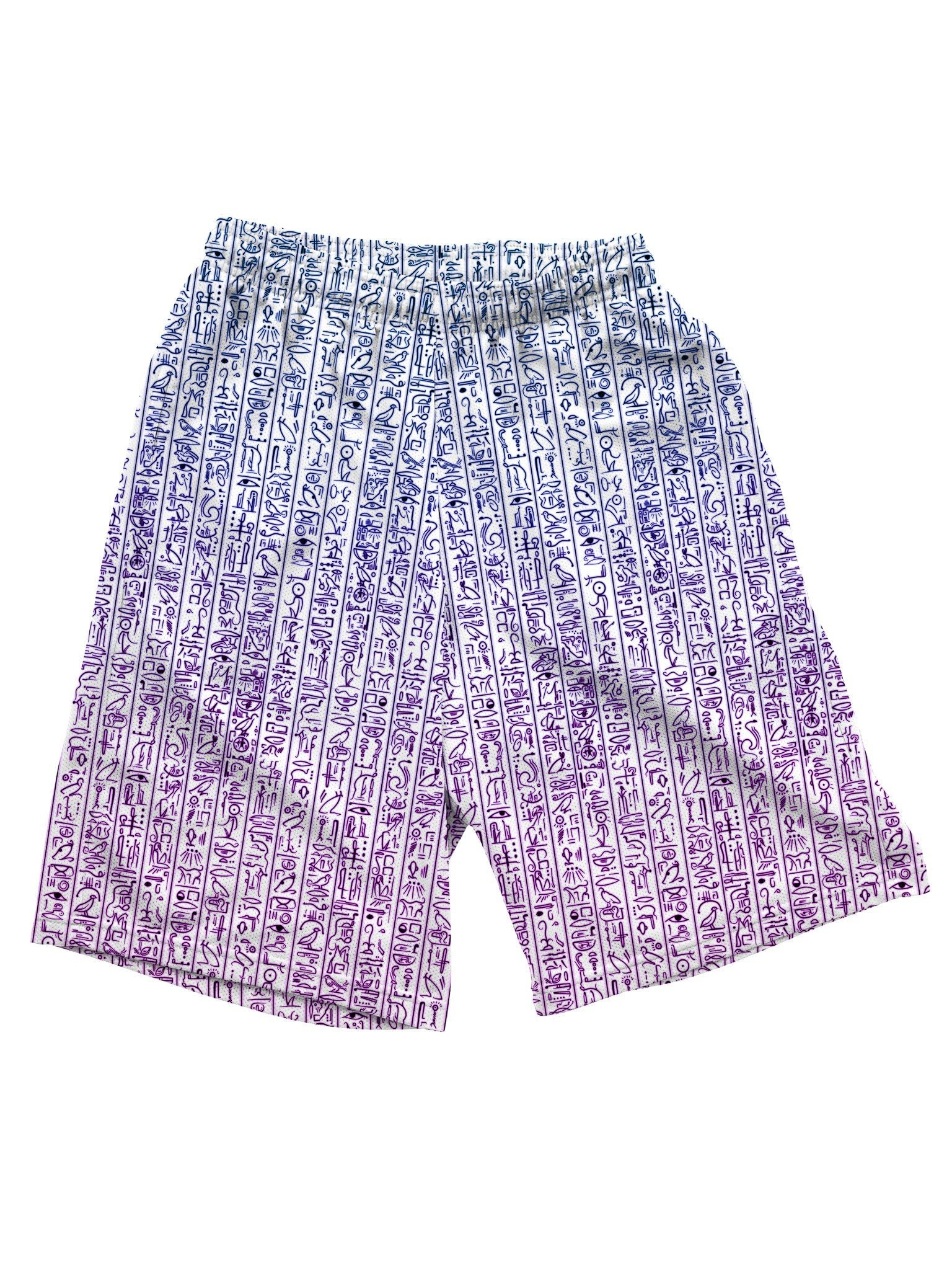 Egyptian Glyphs (Magenta) Shorts Mens Shorts Electro Threads