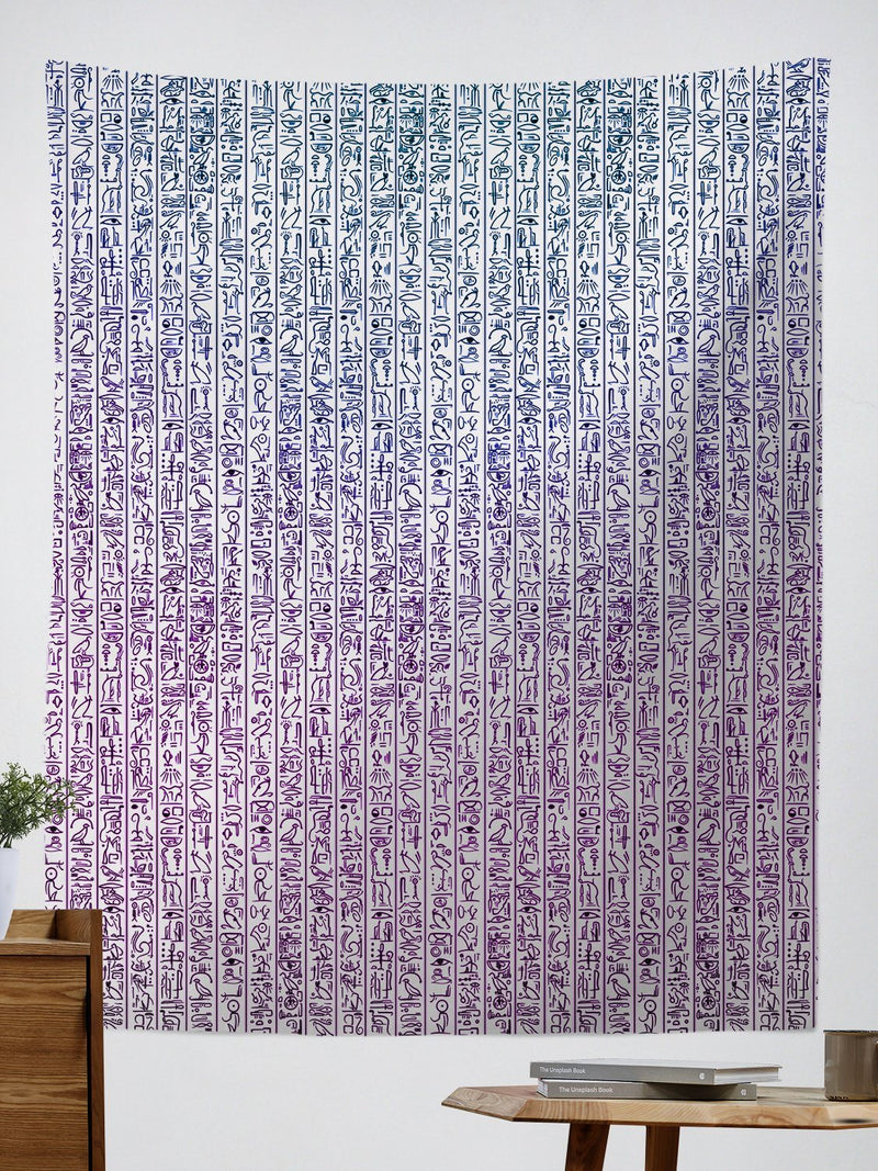 Egyptian Glyphs (Magenta) Tapestry Tapestry Electro Threads