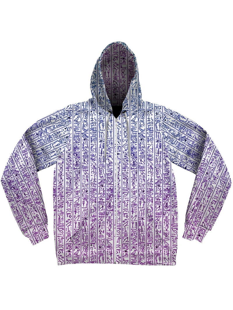 Egyptian Glyphs (Magenta) Unisex Hoodie Pullover Hoodies Electro Threads