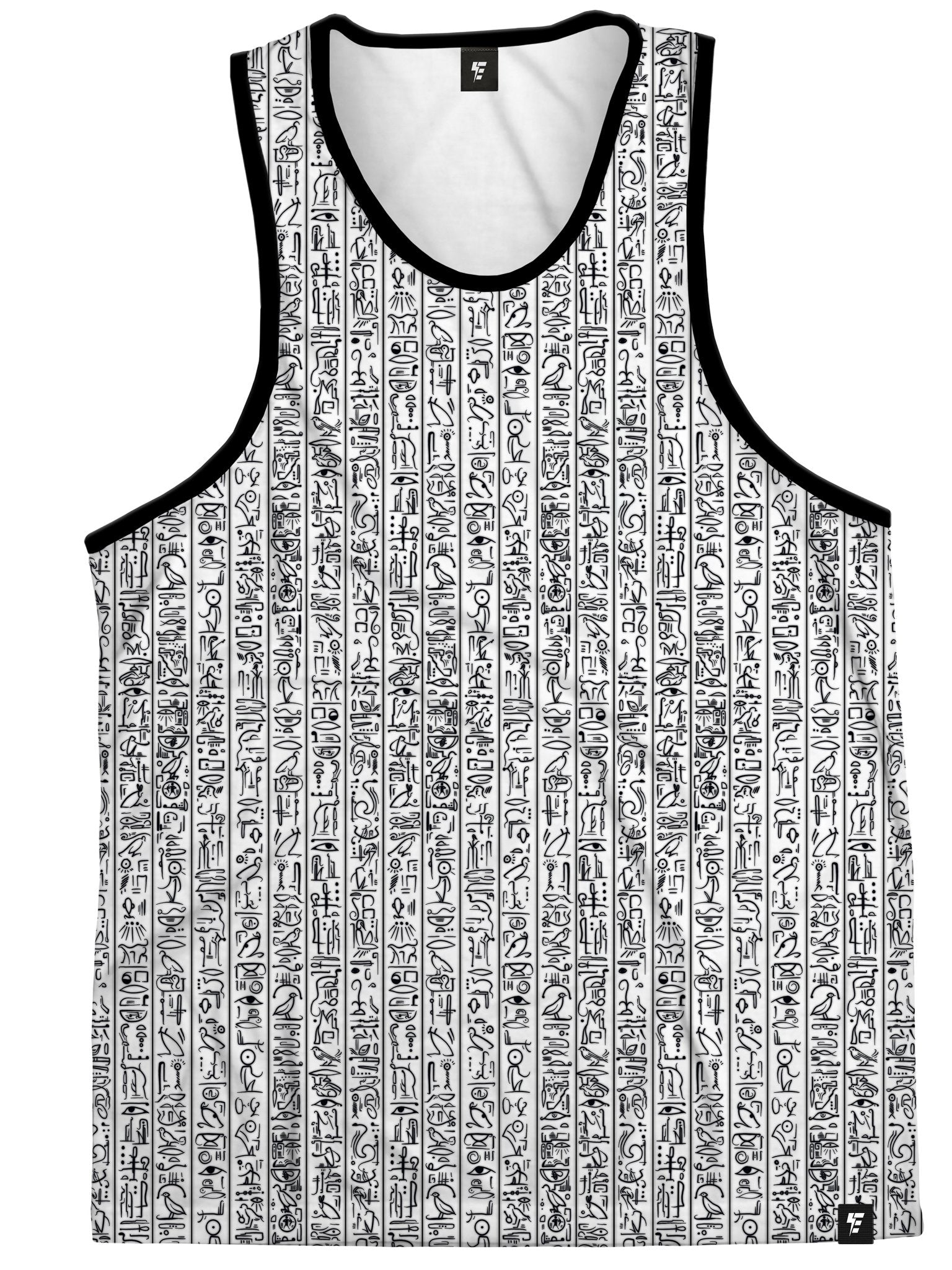 Egyptian Glyphs (White) Unisex Tank Tops Tank Tops Electro Threads