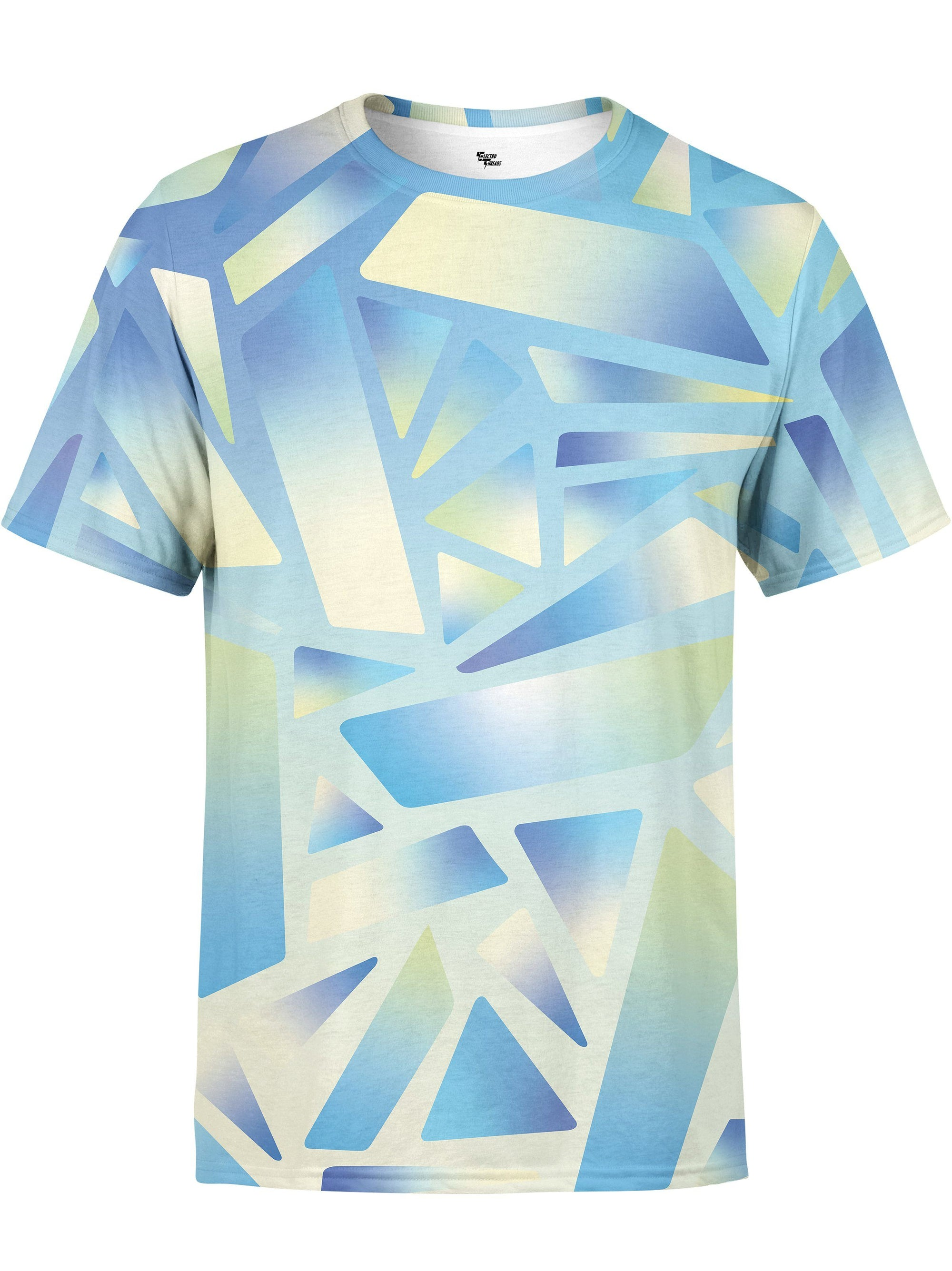 Electric Stain Glass (Blue Ice) Unisex Crew T-Shirts Electro Threads