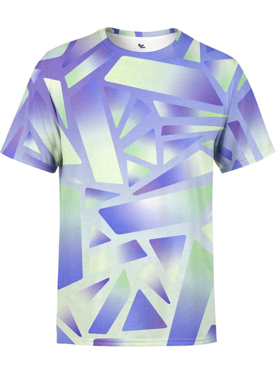 Electric Stain Glass (Indigo Ice) Unisex Crew T-Shirts Space Queen