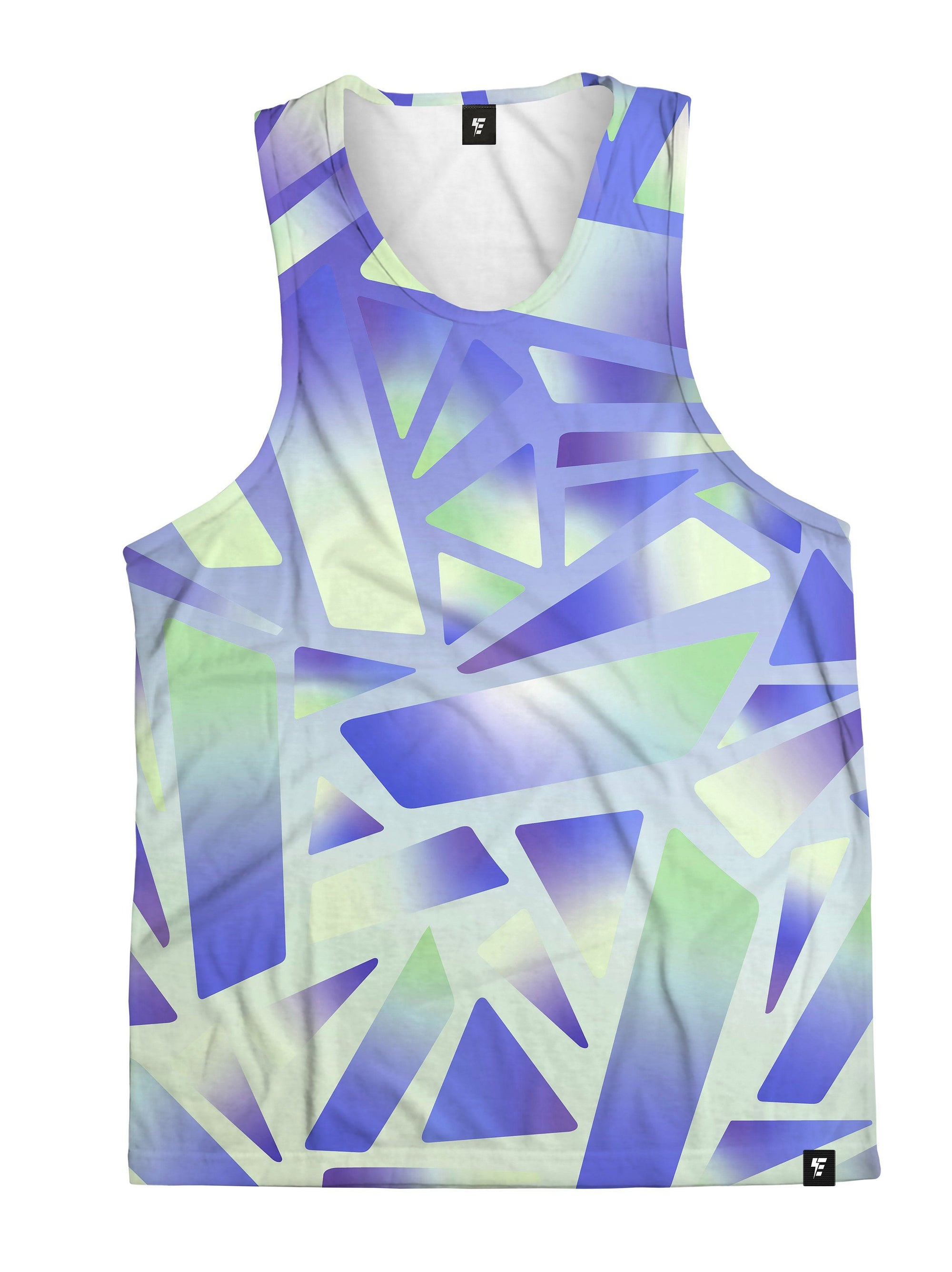 Electric Stain Glass (Indigo Ice) Unisex Tank Top Tank Tops Electro Threads