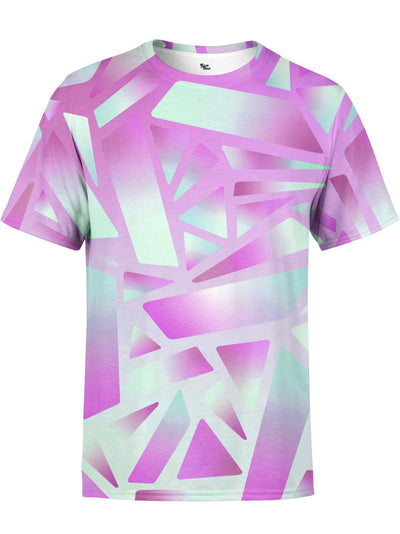 Electric Stain Glass (Pink Ice) Unisex Crew T-Shirts Space Queen
