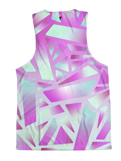 Electric Stain Glass (Pink Ice) Unisex Tank Top Tank Tops Electro Threads