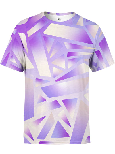 Electric Stain Glass (Purple Ice) Unisex Crew T-Shirts Electro Threads