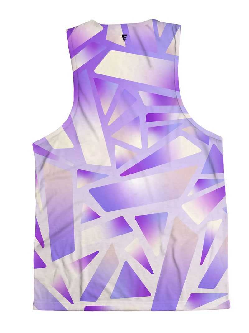 Electric Stain Glass (Purple Ice) Unisex Tank Top Tank Tops Electro Threads
