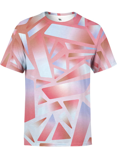Electric Stain Glass (Red Ice) Unisex Crew T-Shirts Electro Threads