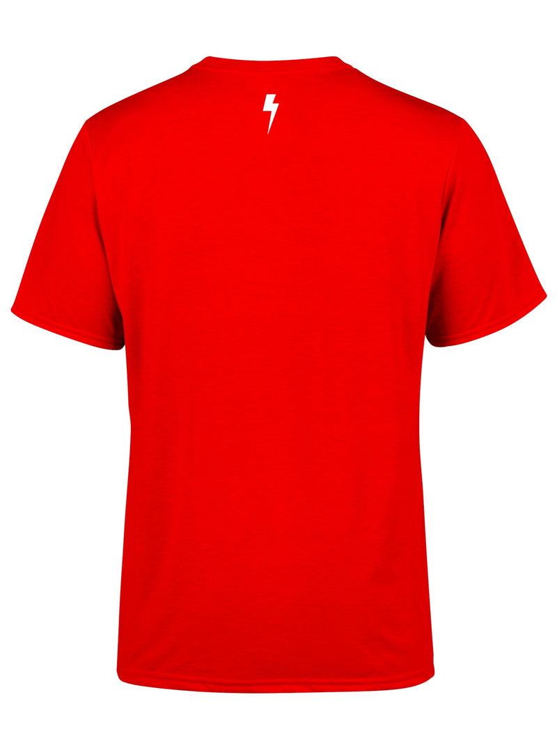 Electro Bolt (Red) Unisex Crew T-Shirts Electro Threads