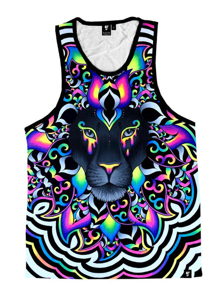 Electro Lion Unisex Tank Top Tank Tops T6