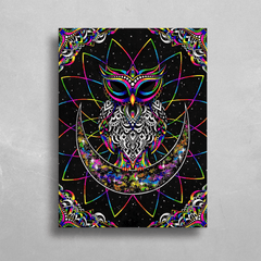 Electro Owl HD Metal Panel Print Ready to Hang HD Metal Print Electro Threads
