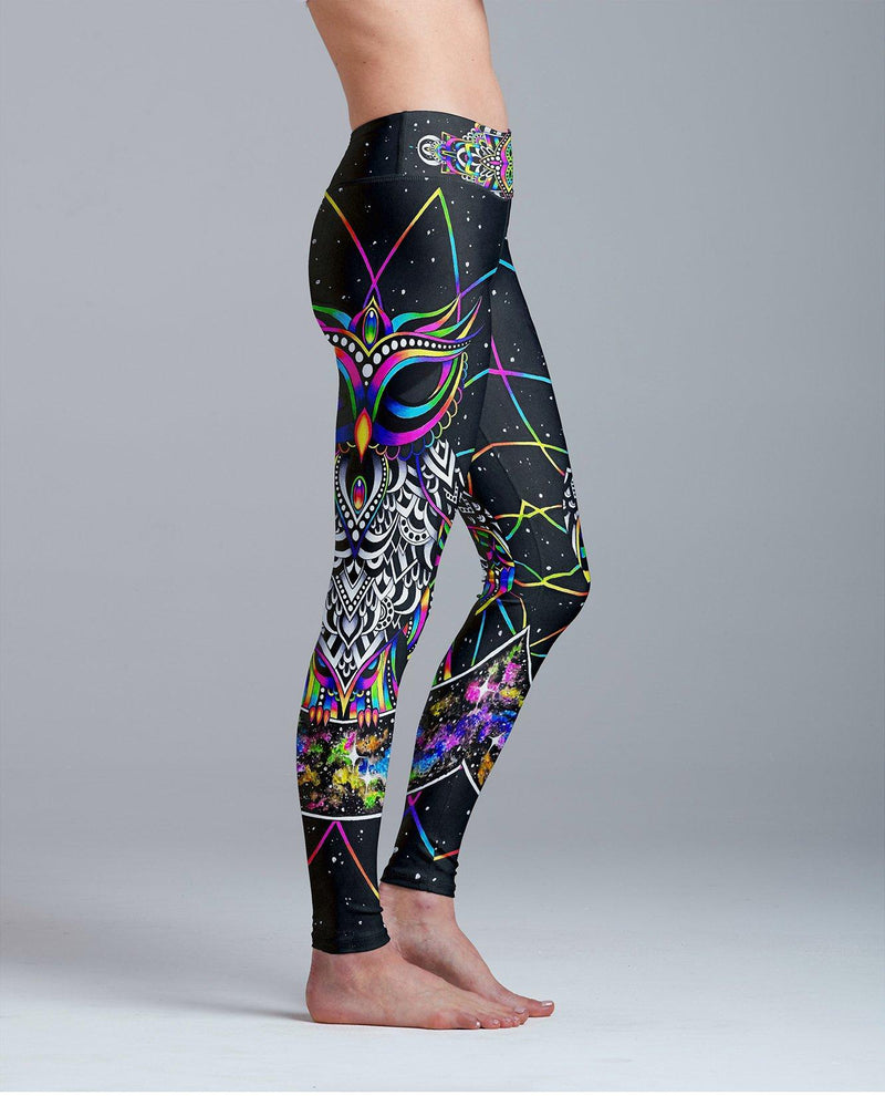 Electro Owl Leggings Leggings Electro Threads