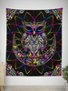 Electro Owl Tapestry Tapestry Electro Threads
