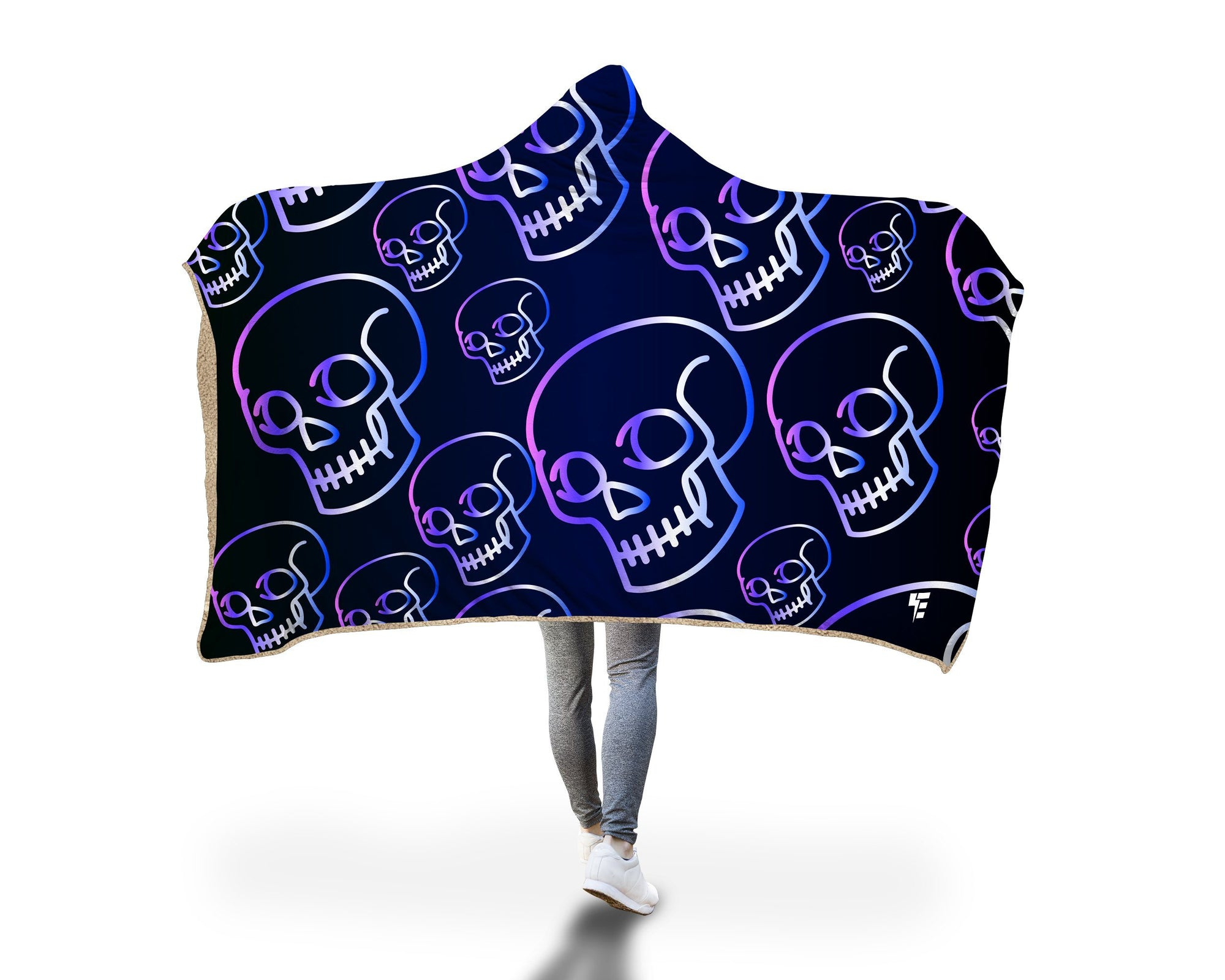 Electro Skulls Hooded Blanket Hooded Blanket Electro Threads