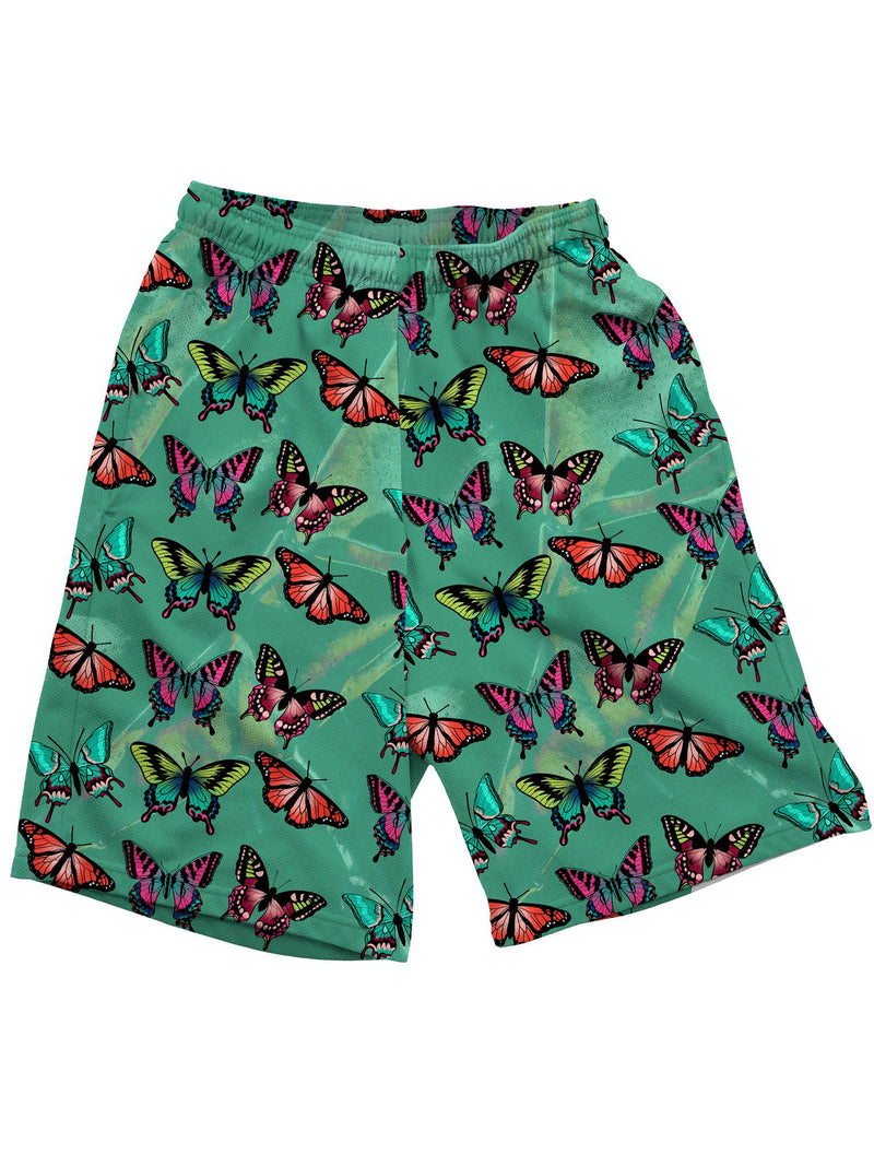 Emerald Butterfly Shorts Mens Shorts Electro Threads