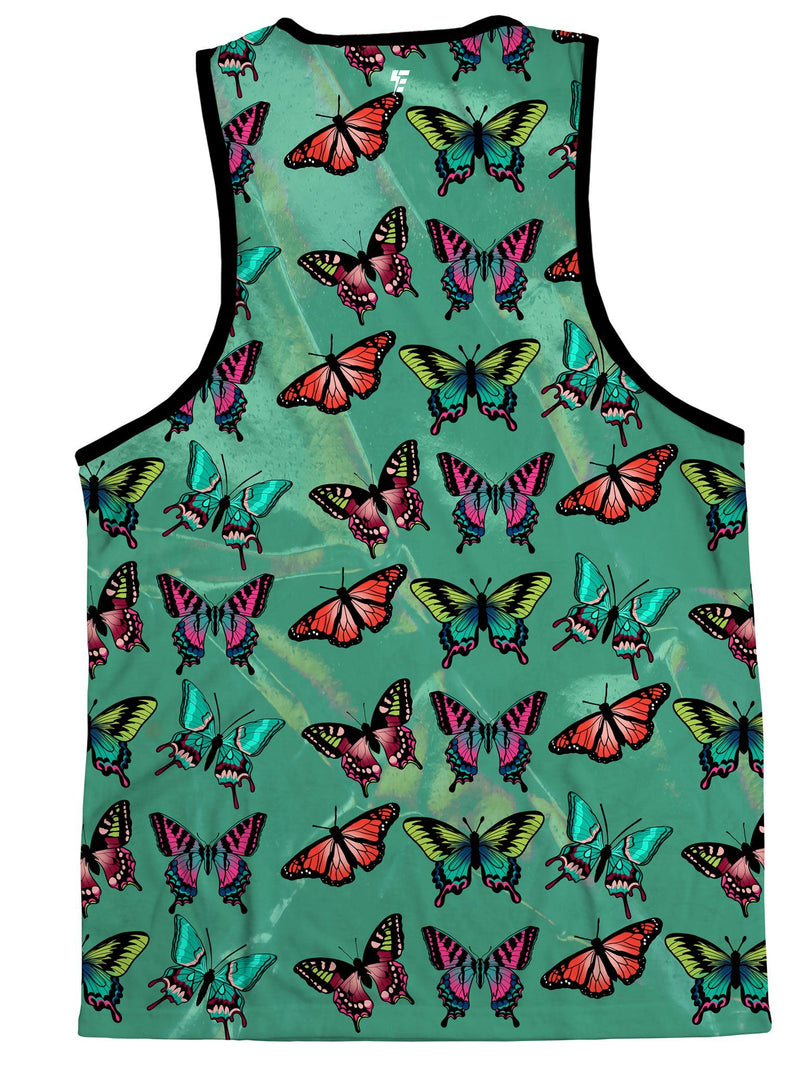 Emerald Butterfly Unisex Tank Tank Tops Electro Threads