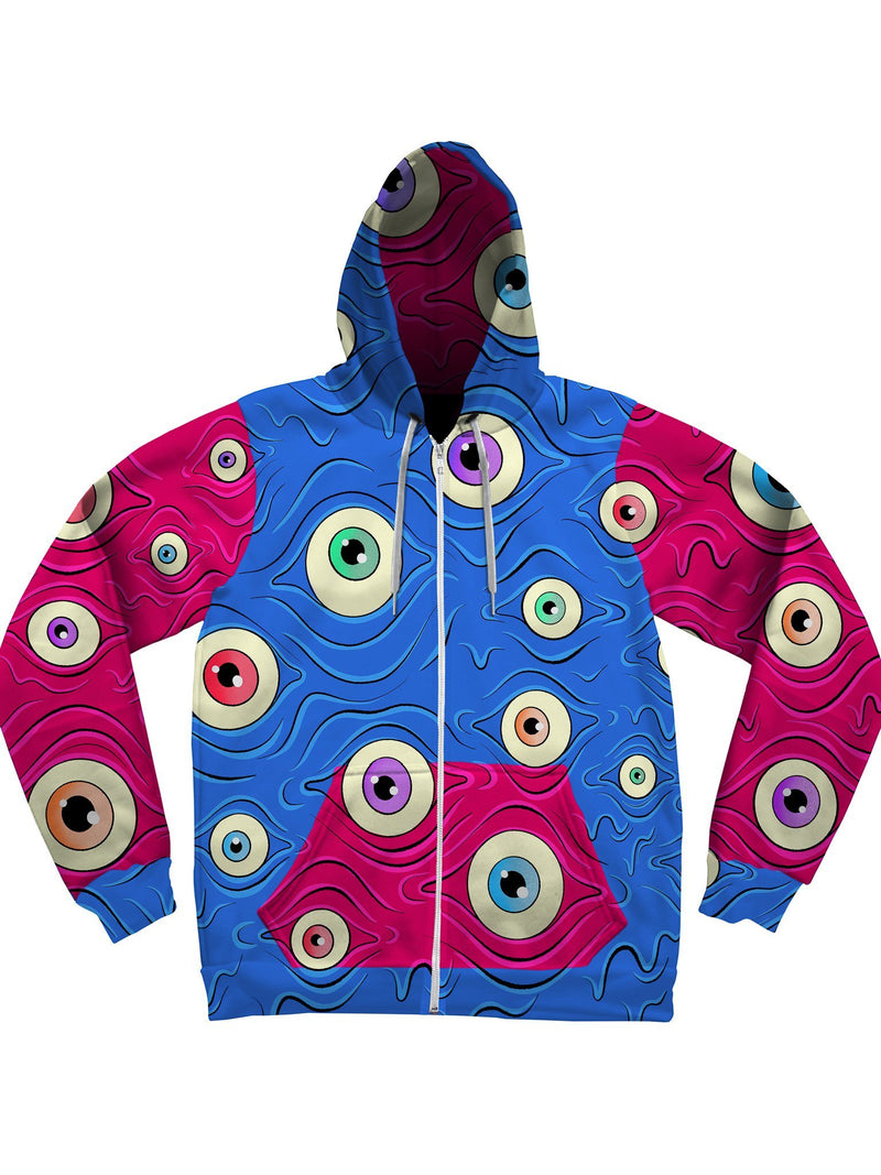 Eyes (Pink/Blue) Unisex Hoodies Pullover Hoodies Electro Threads XS Pullover Regular